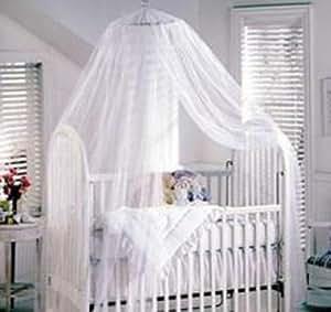 Bestope White Toddler Baby Nursery Halo BED NET Mosquito Net Crib TENT Canopy Netting