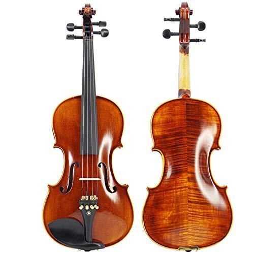 L&q venti anni di violino di pino bianco, violino fatto a mano di alta qualità, violino di alta qualità da 4/4 studenti, accessori in ebano con motivi lucidi (4/4)