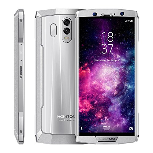 Smartphone, HOMTOMCCC HT70 6.0-Zoll 10000mAh, Ultra-portable Android 7.0 Acht-Kern 4G + 64G 4G hinten / Front 16 + 13MP entsperrt Smartphone (Silber...)