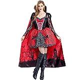 Liny Halloween Vampir Kostüm Damen Kleid Cosplay Fasching Sexy Umhang Zombie Abendkleid Ausführen Geisterbraut Friedhofsbraut Outfit