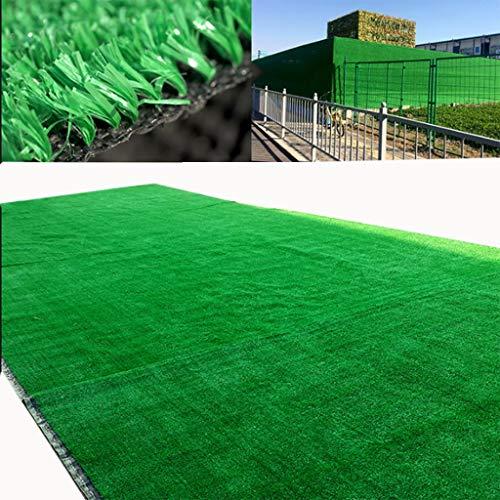 YNFNGXU Kunstrasenmatte, 10mm Verschlüsselung Komfortabel Und Leicht Garten Rasen Dach Wanddekoration Green Grass Teppich 200x100cm (Size : 2x1m) -