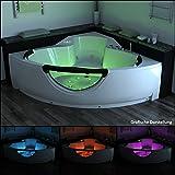 TroniTechnik LUXUS Whirlpool Badewanne Wanne Jacuzzi Eckwhirlpool Spa 2 Personen Eckwanne 150x150