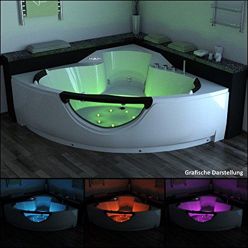 TroniTechnik LUXUS Whirlpool Badewanne Wanne Eckwhirlpool Spa 2 Personen Eckwanne 150x150 - 2