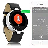 Best Indigi iPhone reloj - Indigi® Bluetooth Smart reloj corazón tasa Siri para Review