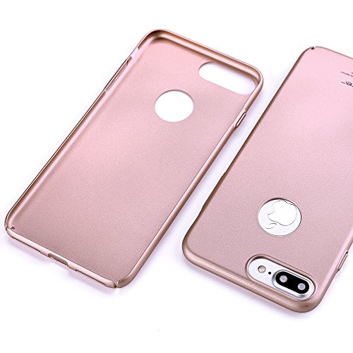 Custodia iPhone 7 Plus in PC, Lofter Custodia Anti Scivolo Protezione Posteriore Cover Antiurto, Ultra Sottile Cover Case per iPhone 7 Plus, Blu Scuro Oro Rosa