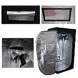 Senua Hydroponics Grow Room Tent 60x 60x 140cm argento Mylar senza PVC