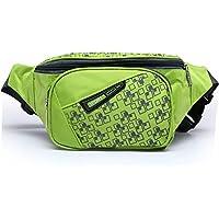 orrinsports 3tasche cerniere in nylon resistente all' acqua Outdoor Marsupio con Cintura Regolabile, Green - Gun Bag Neoprene