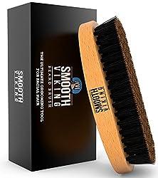 Bartbürste für Männer – Barthaarkamm für Konditionierung, Styling & Pflege von Schnurrbärten – mit Wildschweinborsten für einfache Pflege – Verteilt Produkte & natürliches Wachs gleichmäßig – Smooth Viking