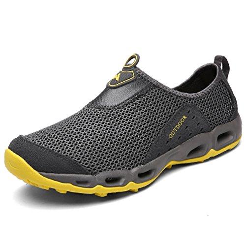 Chaussure de Randonnée de Plage Outdoor pour Homme Femme sans Lacet Chaussure d'eau en Toile Respirante Légère