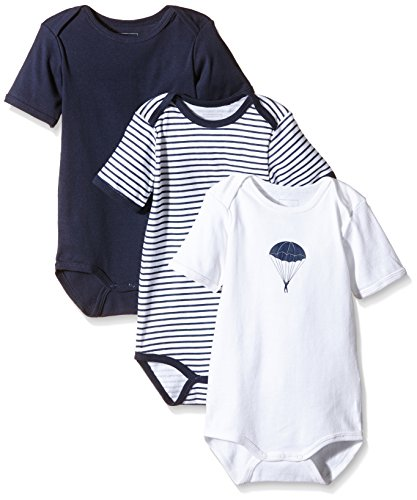 NAME IT Baby-Jungen Body NITBODY SS M B NOOS, 3er Pack, Gr. 80, Blau (Dress Blues)