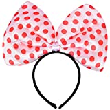 Party Butiko Red And White Polka Dots Bow Head Band