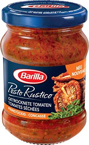 Barilla Sauce Pesto Rustico Tomates Séchées 175 g - Lot de 4