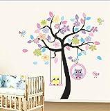 DIY Owl Bird Tree etiqueta de la pared decoración para el hogar habitación para niños sala de estar calcomanías niños bebé Nursery Wallpapers decorativos pegatinas