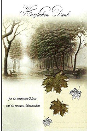 10 Danksagungskarten Trauerkarten mit Umschlägen Motiv Weg / Bäume Trauerkarte Trauer Danke (K/H35)