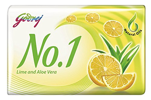 Godrej No.1 Lime and Aloe Vera Soap, 150g (Buy 3 Get 1 Free)