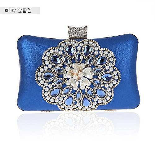 Pearl, Modisch, Exquisite, Diamond, Bankett - Tasche, Hand - Tasche Blue