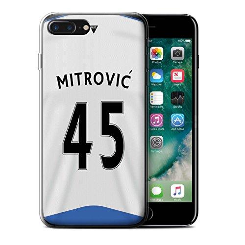 Officiel Newcastle United FC Coque / Etui Gel TPU pour Apple iPhone 7 Plus / Obertan Design / NUFC Maillot Domicile 15/16 Collection Mitrovic