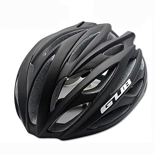 MIAO Fahrradhelm - Outdoor Männliche und weibliche Road / Mountain Bike Fahrradhelme mit Skelett , matte black