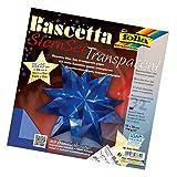 Folia Bascetta Stern Bastelset Transparentpapier 15x15cm, blau