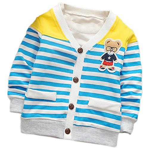 DIIMUU Baby Jungen Blouson Jacke Gr. 2 Jahre, blau