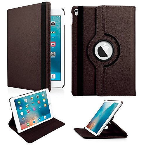 "MOCA 360 Degree Rotating PU Leather Smart Flip Case Cover for 7.9"" inch Apple iPad Mini 1, 2, 3(Coffee Brown.)"