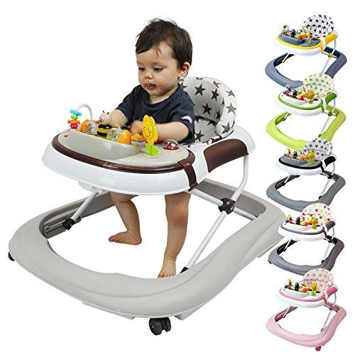 Monsieur Bébé ® Trotteur bébé évolutif musical, pliable et réglable en hauteur - 6 coloris - Norme NF EN 1273