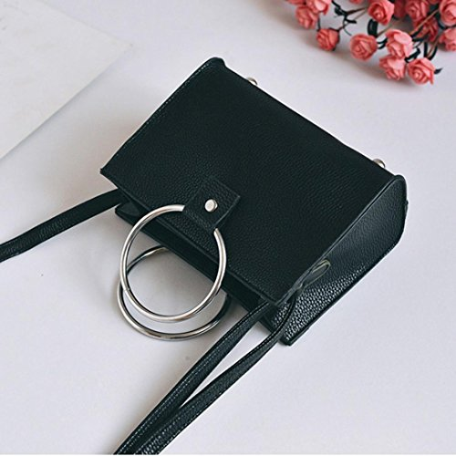 Messenger Bag, Nuova Moda Donna Spalla Borse Donna Messenger Bag Crossbody Borse by Kangrunmy Nero