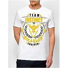 T-shirt Pokémon GO Team Instinct / Intuition , Equipe jaune représenté par Electhor / Zapdos - Kanto Factory -