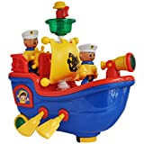 #1: Trinkets & More - Sailing and Rowing Boat with Lights and Music | Flash and Search Light | Fun Toys Kids 2 + Years