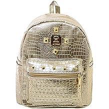 La Haute mujeres niñas moda mochila elegante remaches crystal decorar Mini mochila