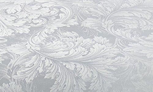 Curt Bauer Mako Brokat Damast Bettwäsche Akanthus Größe 140×200+70×90 cm Farbe 0139 Kreide