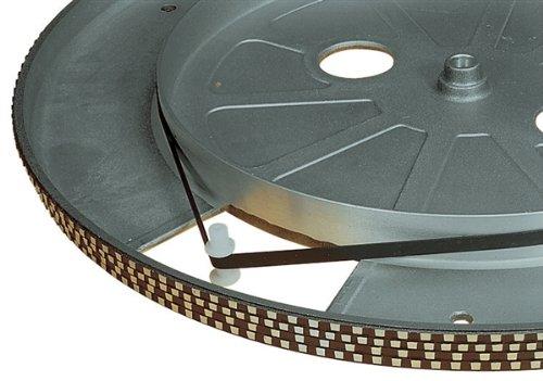 Electrovision–Cinture platino Giradischi nera–dimensioni: 185mm