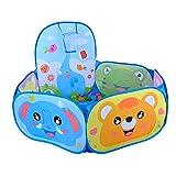 NatureFun Kids Play Tent Piscine Sea Ball avec mini panier de basket, léger, installation facile, avec sac de rangement à fermeture éclair, pour l'intérieur en plein air, seulement 400g