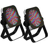 2 x Slim PAR56 LED Par Can Uplighter 10mm RGB LED DMX