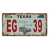 Baoblaze USA Kennzeichen Metall Blechschilder Schild Plakette für Cafe Bar Tür - Texas