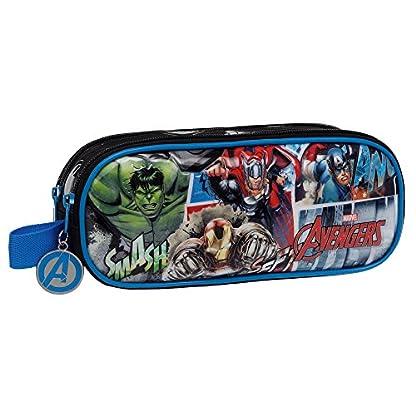 Marvel Avengers Street Neceser de Viaje, 1.45 litros, Color Azul