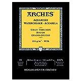 Arches blocco per acquerello incollato 1 lato (15 fogli) - grana torchon - Bianco naturale 185g/mq - A5