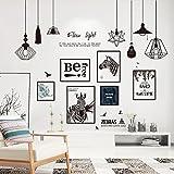HCCY Mural posters affiches style scandinave minimaliste salon chambre à coucher mur à l'arrière-plan papier auto-adhésif décoratif mural 180*155cm Poster