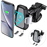 Wireless-Charger-Auto, DesertWest QI Induktive KFZ Ladegerät mit Auto Handy Halterung Drahtloses Schnelles Ladestation für iPhone 8 / 8 Plus / iPhone X / Samsung Galaxy S9 + / S9 / S8 / S8 Plus / S7 Edge / S6 Edge Note 8 / Note 5, andere Qi befähigte Geräte