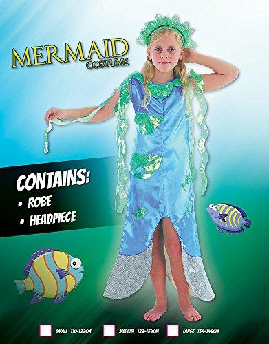 Imagen de disfraz infantil de niña de sirena. 6  9 años alternativa