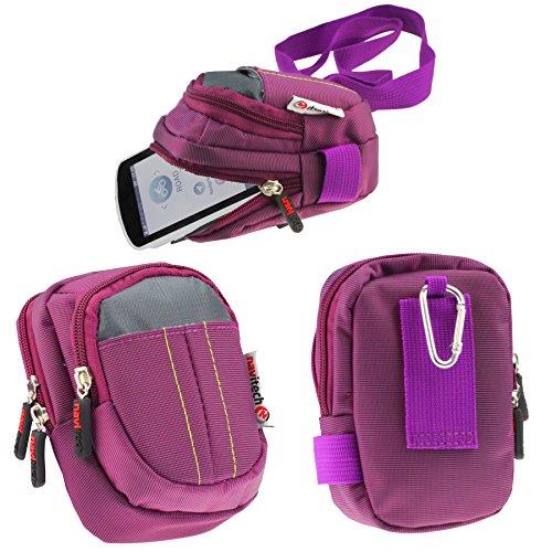 Navitech Lila Schutztasche/Tasche / Schutzhülle/Fall / Gehäuse für Garmin Etrex Touch 25/35 / Oregon 700 / Edge Explore/Edge 130 Etrex Fall
