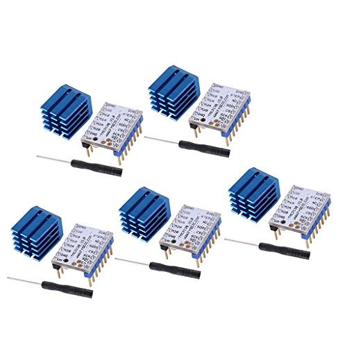 Baoblaze 5 Stücke Motherboard Schrittmotortreiber Modul TMC 2130 + Kühlkörper für 3D Drucker, Ersatz