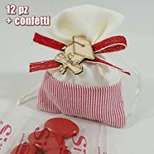 Sindy Bomboniere 12 Pezzi Sacchetti Laurea Originali con Tocco E Fiocco  Completi di Confetti o Fai deca9bd5e5a3