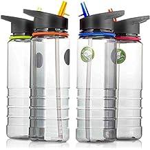 AAJ Tritan Sport-Trinkflasche mit Klapp-Trinkhalm, frei von Bisphenol A, 700ml