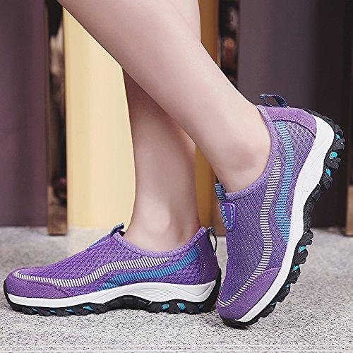 Gaatpot Respirant Chaussures De Course Hommes Womens Mesh Running Sneakers Running Sneakers Purple