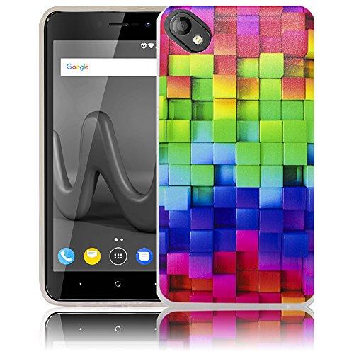 thematys Passend für Wiko Sunny 2 Plus Buntes Muster Handy-Hülle - Silikon - staubdicht, stoßfest und leicht - Smartphone-Case Wiko Sunny 2 Plus