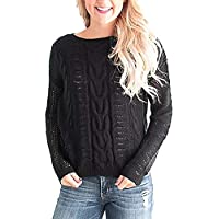 Damen Pullover Frauen Langarm Casual O Neck Übergröße Loose Fit Strick Pullover Pullover Top