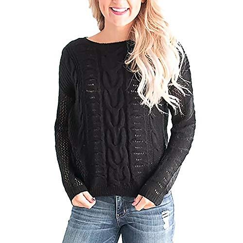 MIRRAY Damen Sweatershirt Übergröße Langärmeliges Casual O Hals Loose Fit Strickpullover Pullover Oberteil