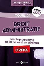 Cours de droit administratif de Christophe Mondou