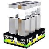 6er Set LED Solar-Wegeleuchte mit bis zu 5 Lumen, rostfreier Edelstahl, mit Standard NiMH Akku
